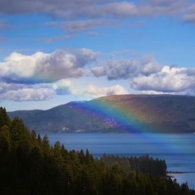 Rainbow over Lake Tahoe